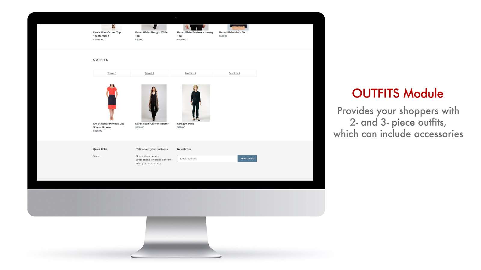 Savitude's OUTFITS module automatically assembles complete looks