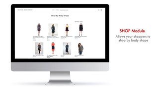 Savitude's SHOP module recommends optimal pieces for body shape