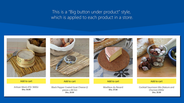 Nice square under product button - buy button