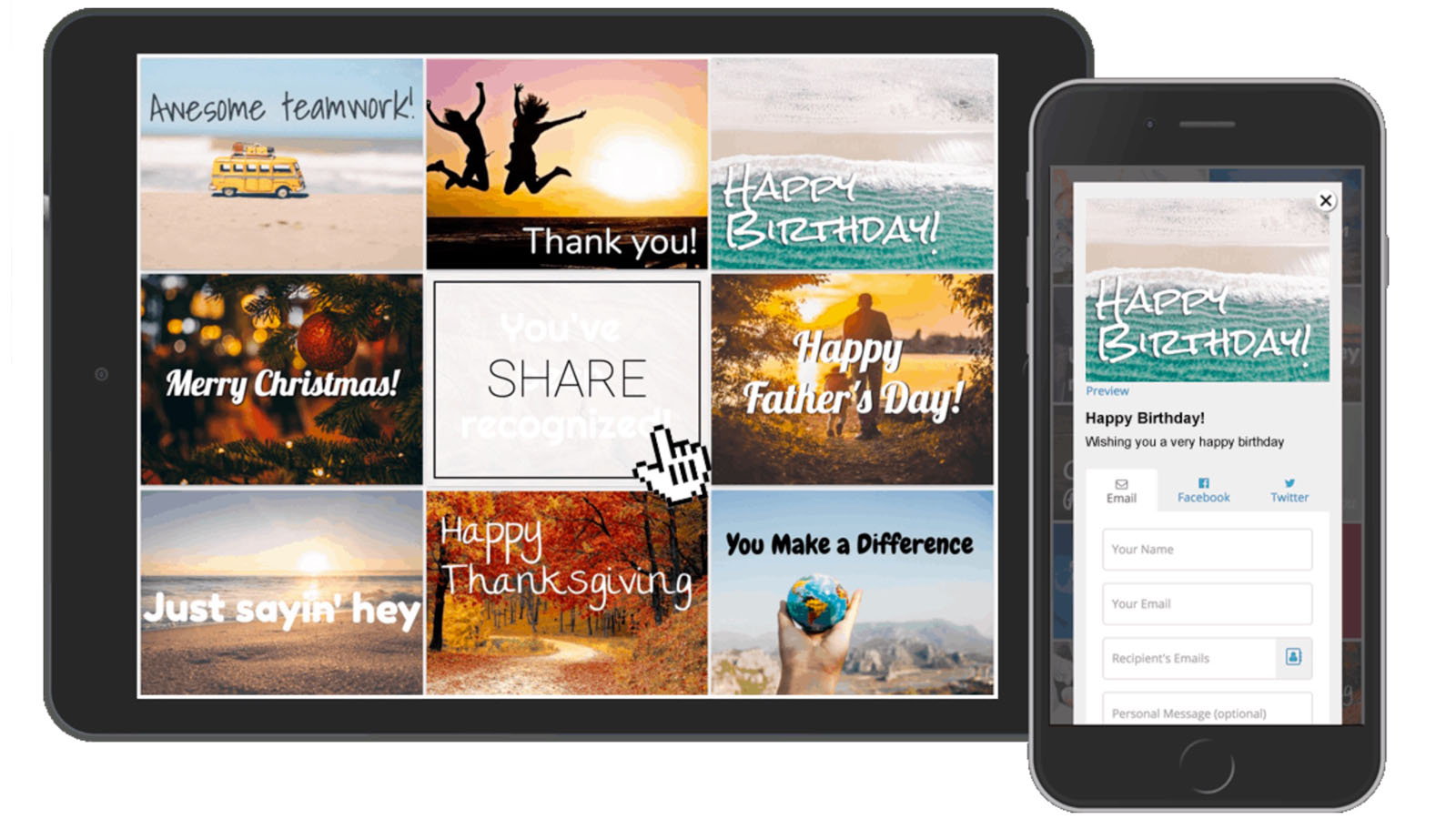 Easily Embed and Share Ecards