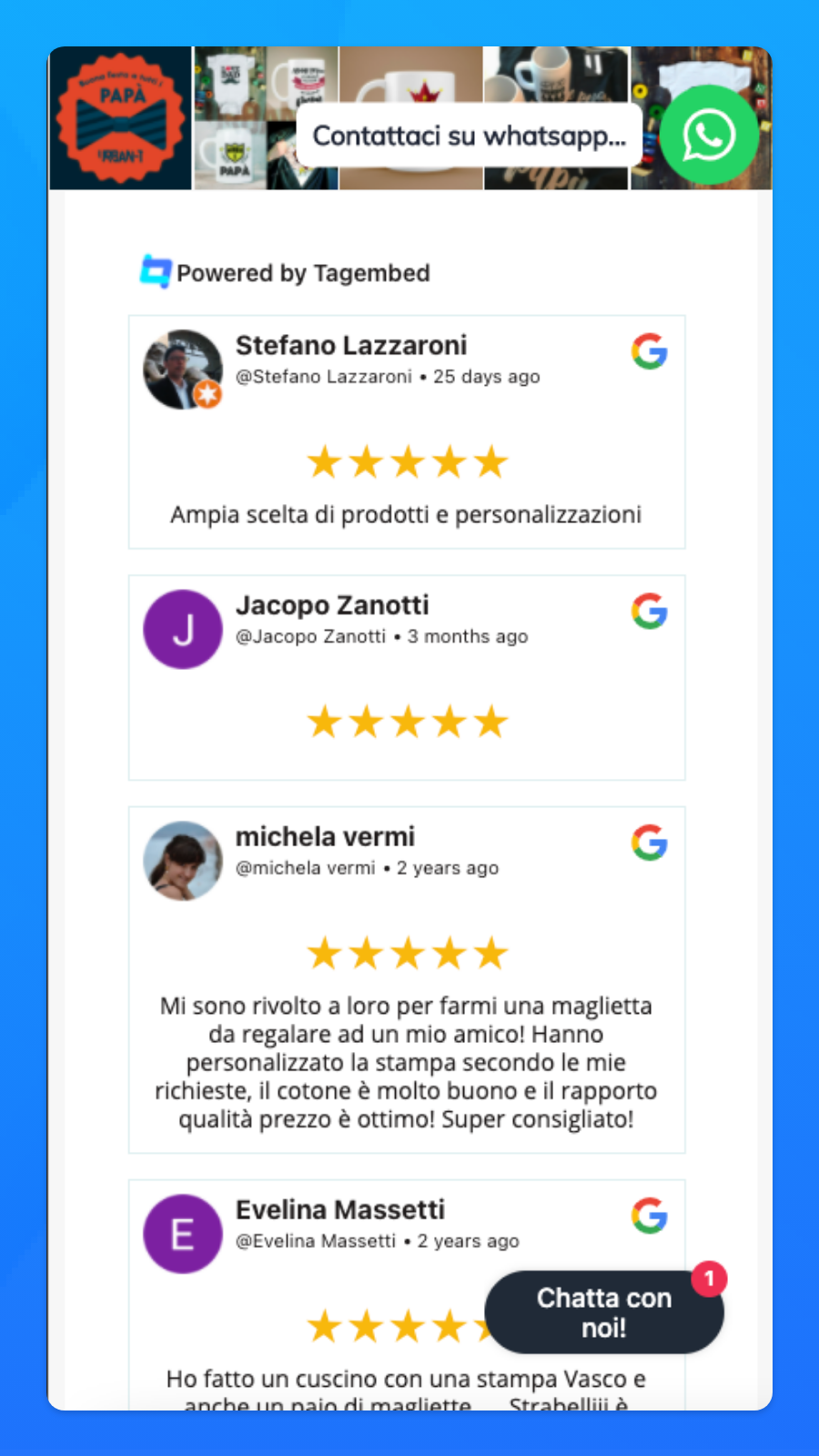 Reviews on Mobile