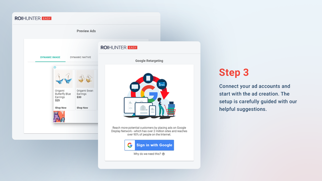 ROI Hunter Easy - Connect Ad Accounts and Create Ads