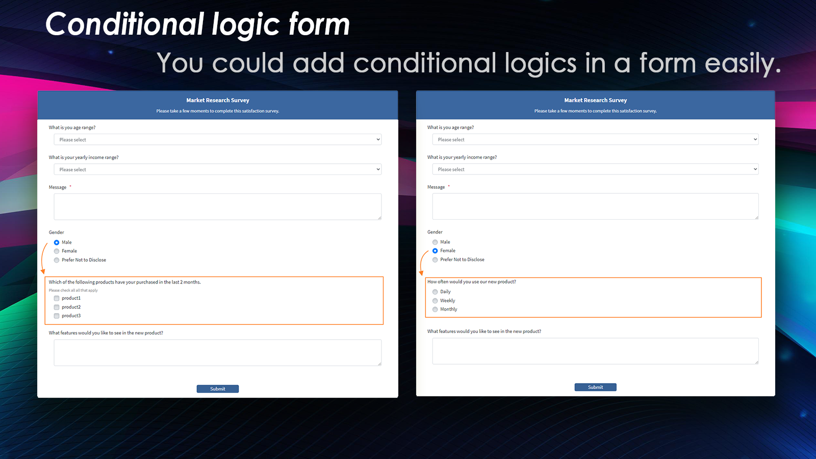 Conditional logic form