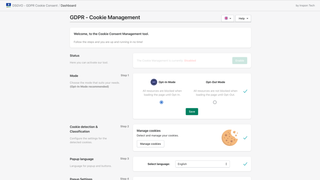 DSGVO Cookie Consent Tool Dashboard