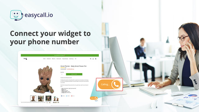 receive calls in your call center from your Shopify store