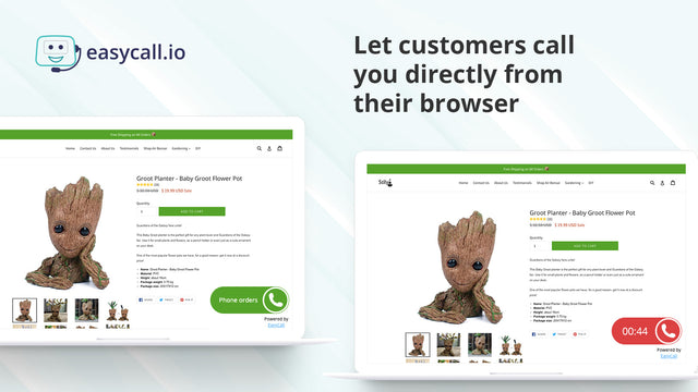 Click to call widget from your Shopify store Shopify call center