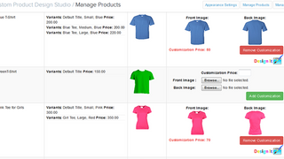 Configure store's product as custom product