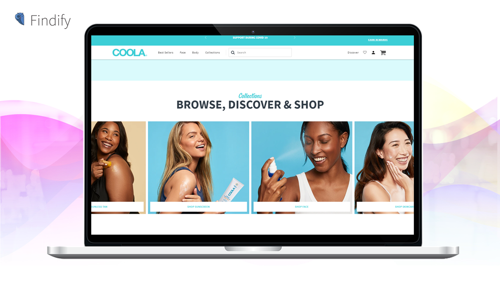Search & Personalization: Collections shown on Coola