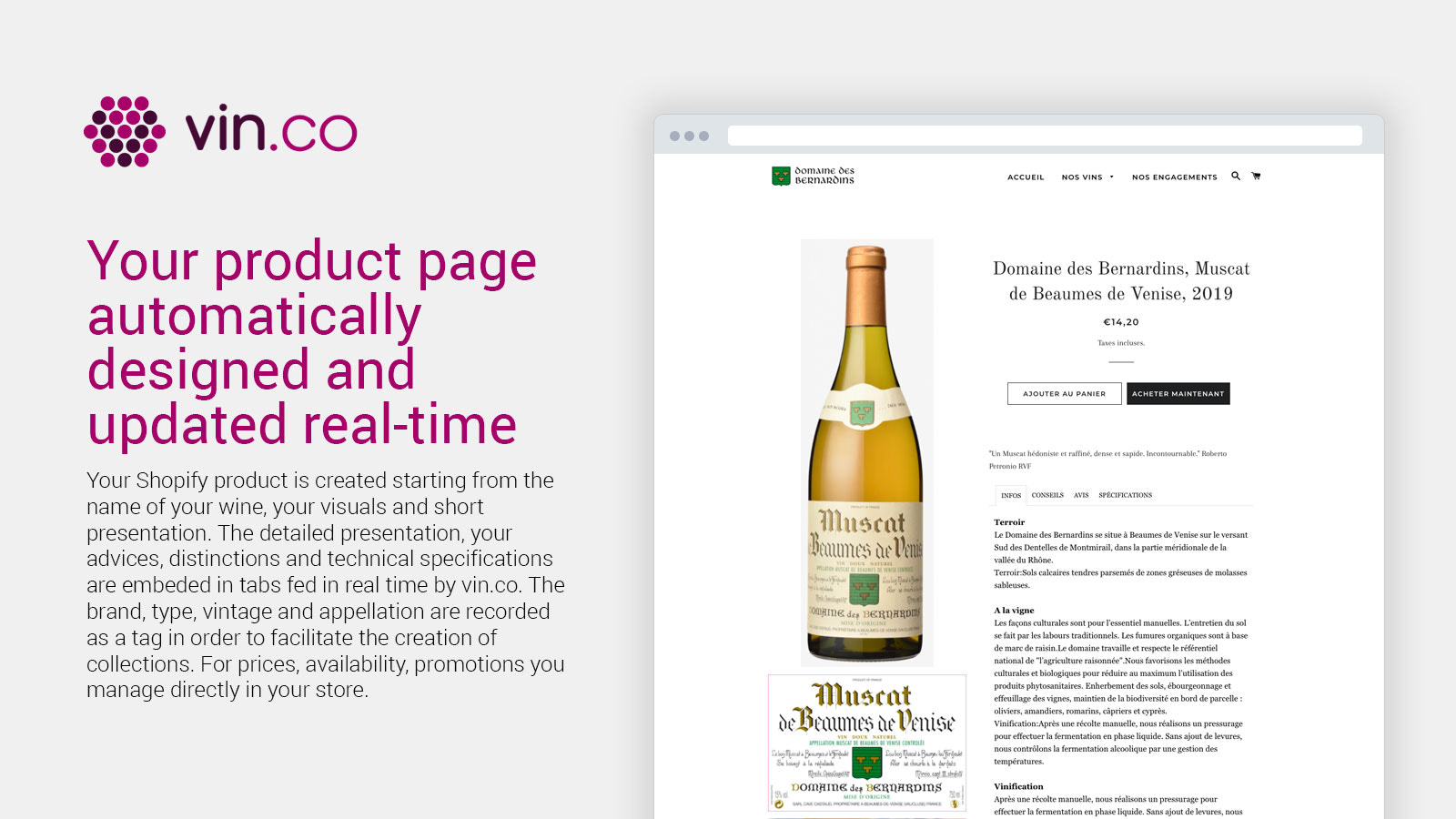 Your product page automatically redesigned and updated real-time