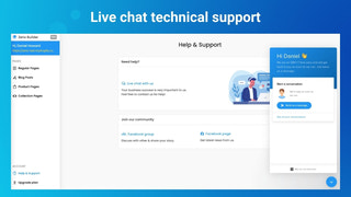 Live chat technical support