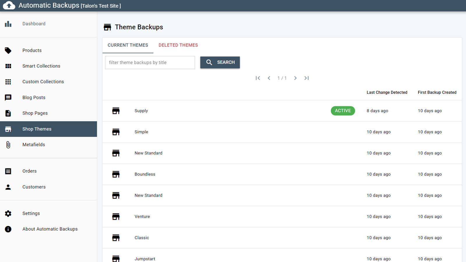 Browse all modified theme files.