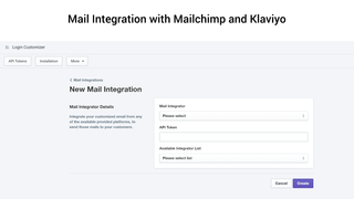Mailchimp and klaviyo Integration
