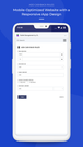 wallet app - mobile view