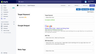 Product Optimize Page