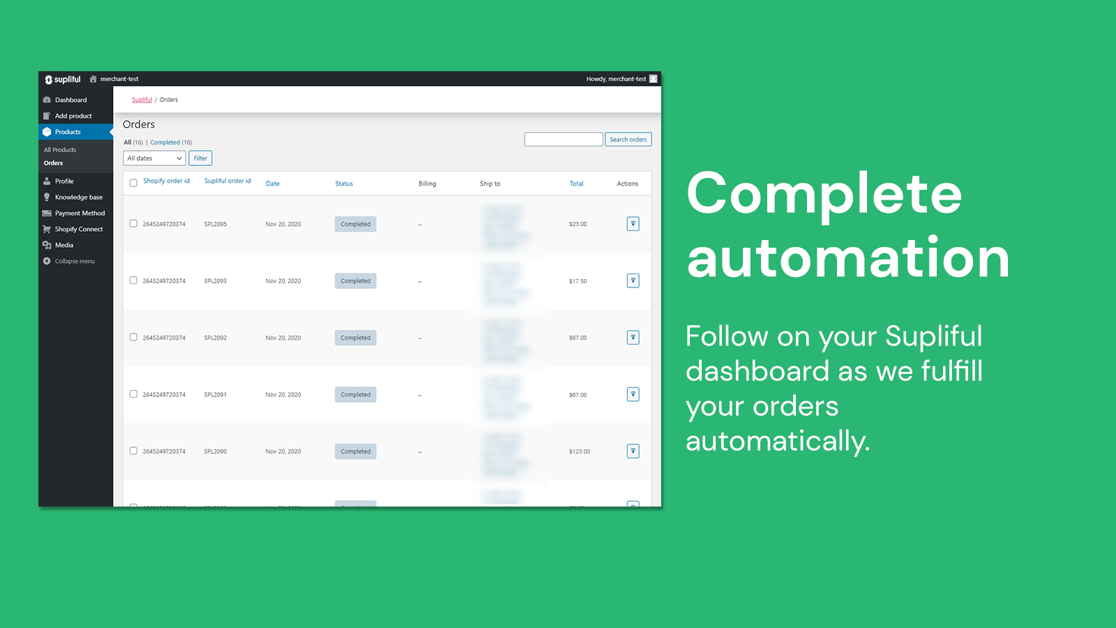 Watch as we import and fullfill your orders automatically
