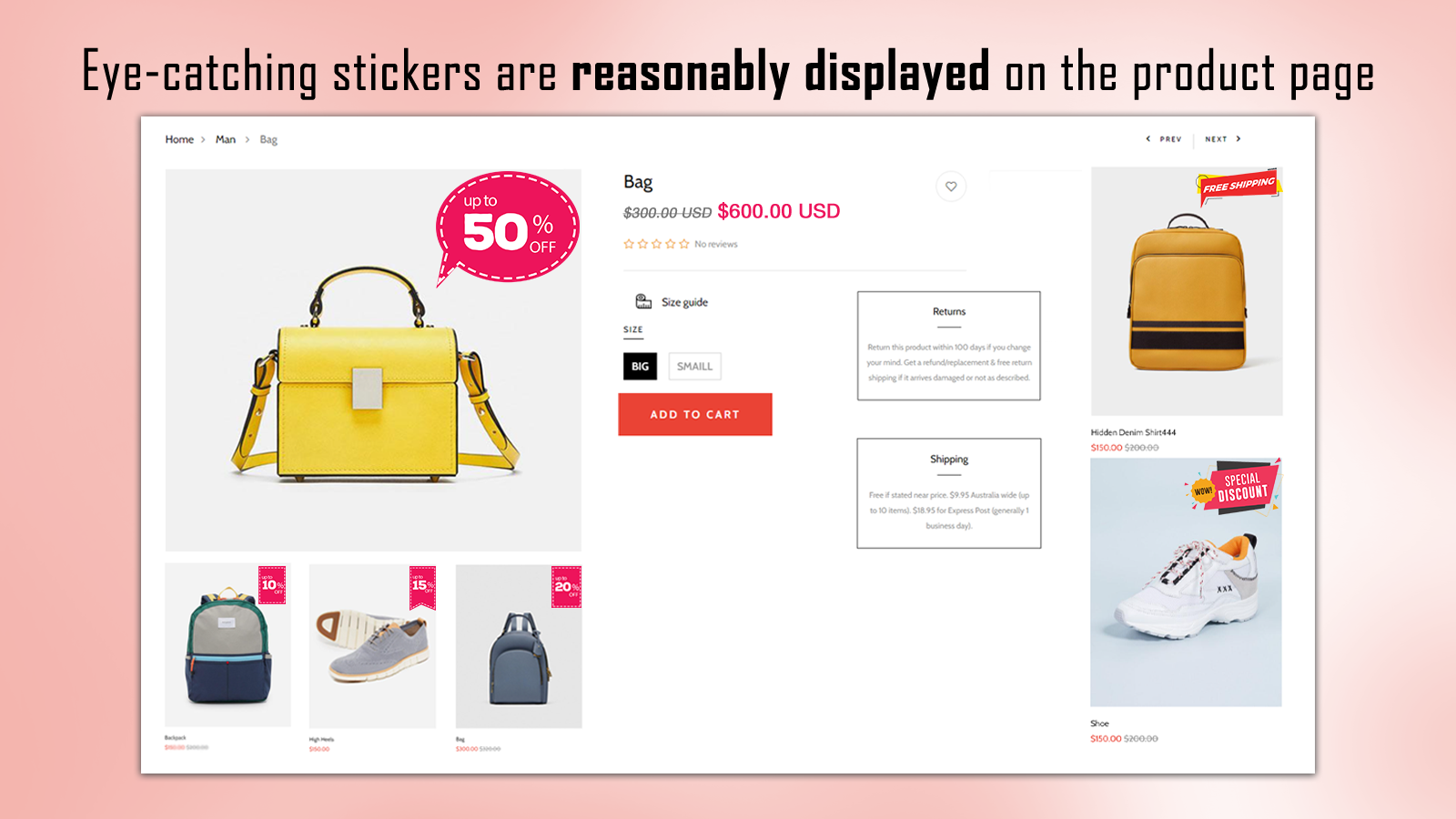 Quickly bulk add stickers to product images