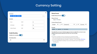 Flexible currency format settings