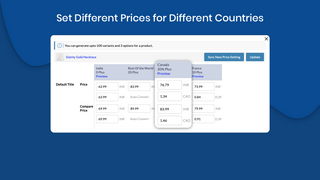 Increase price by percent or amount