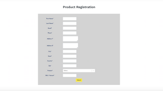 Product Registration Customer View