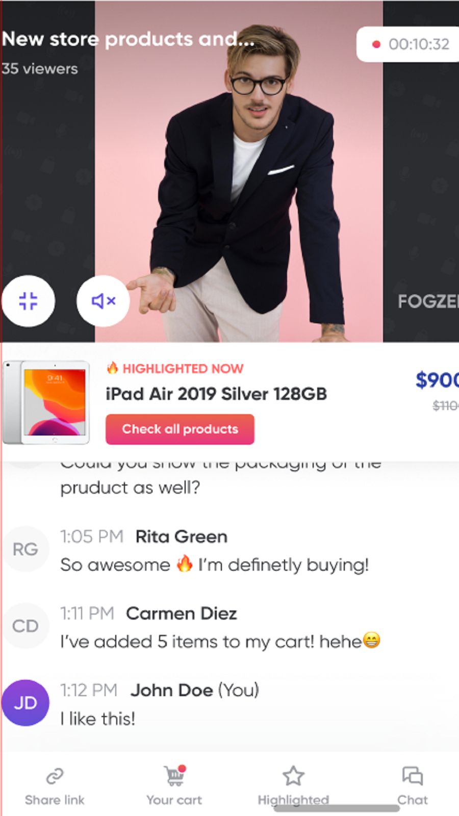 Go live on your mobile at any time