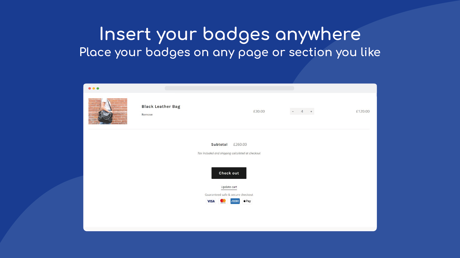 insert your badges anywhere