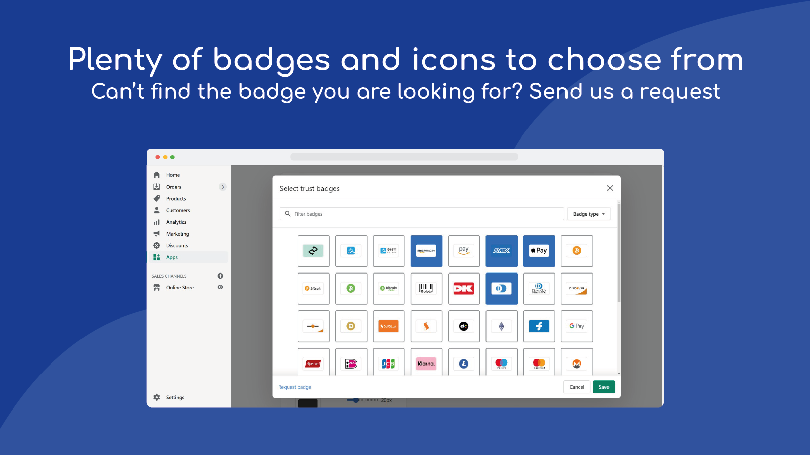 plenty of badges and icons to choose from