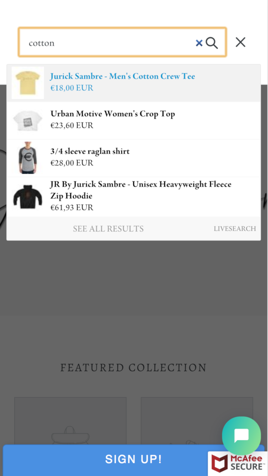 Shopify app designed to work best on mobiles