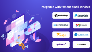 Integrated with famous email services