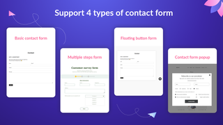 Support 4 types of contact form