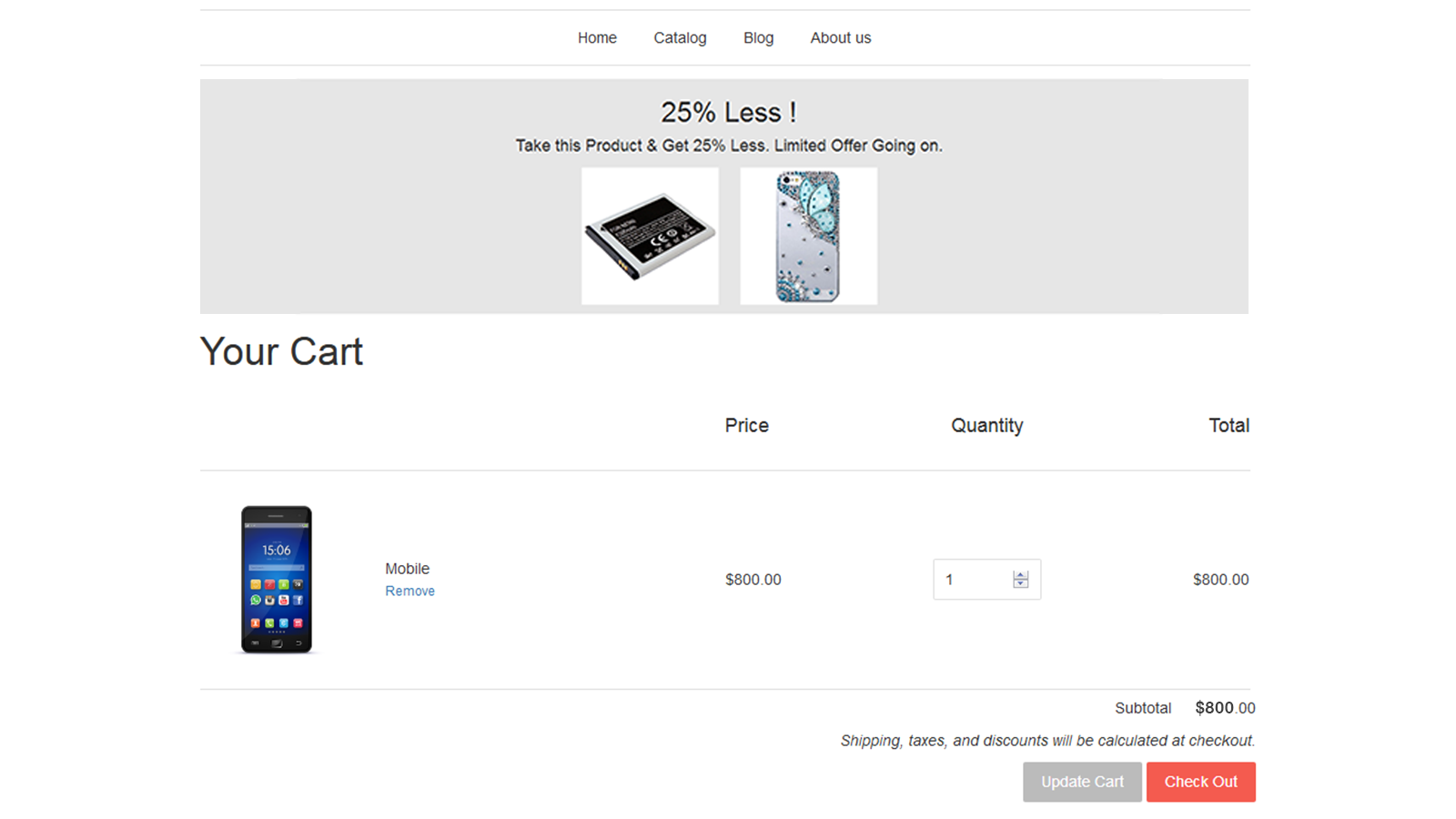 Show upsell offer in the cart