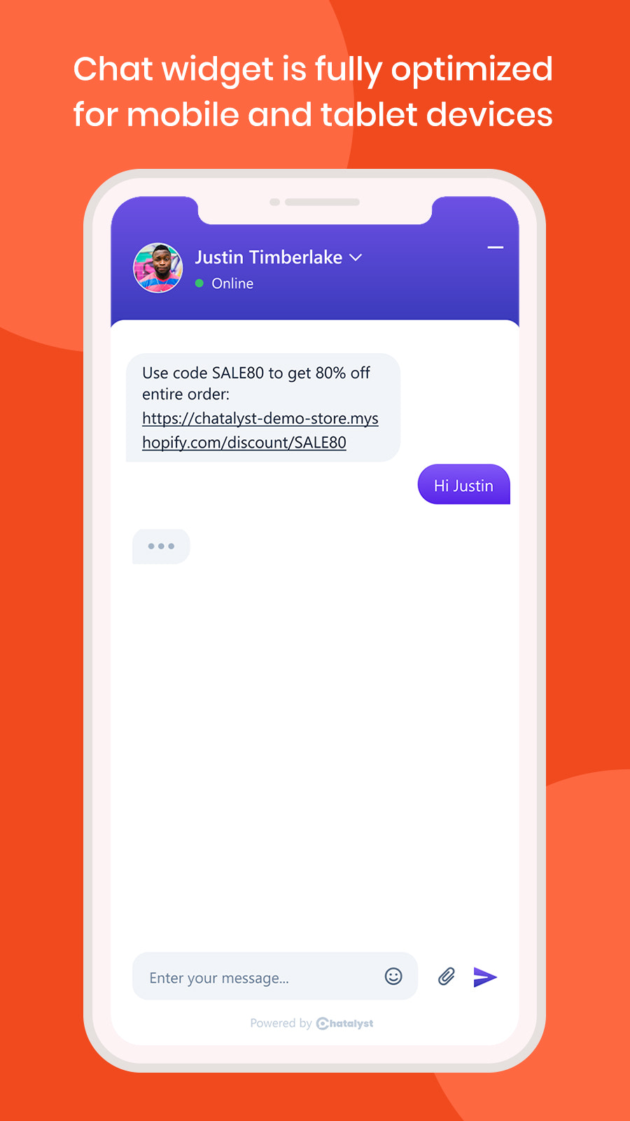 chatalyst live chat responsive on mobile