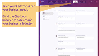 Train your Chatbot as per your business needs.