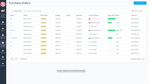 Manage Everything Including Purchase Orders
