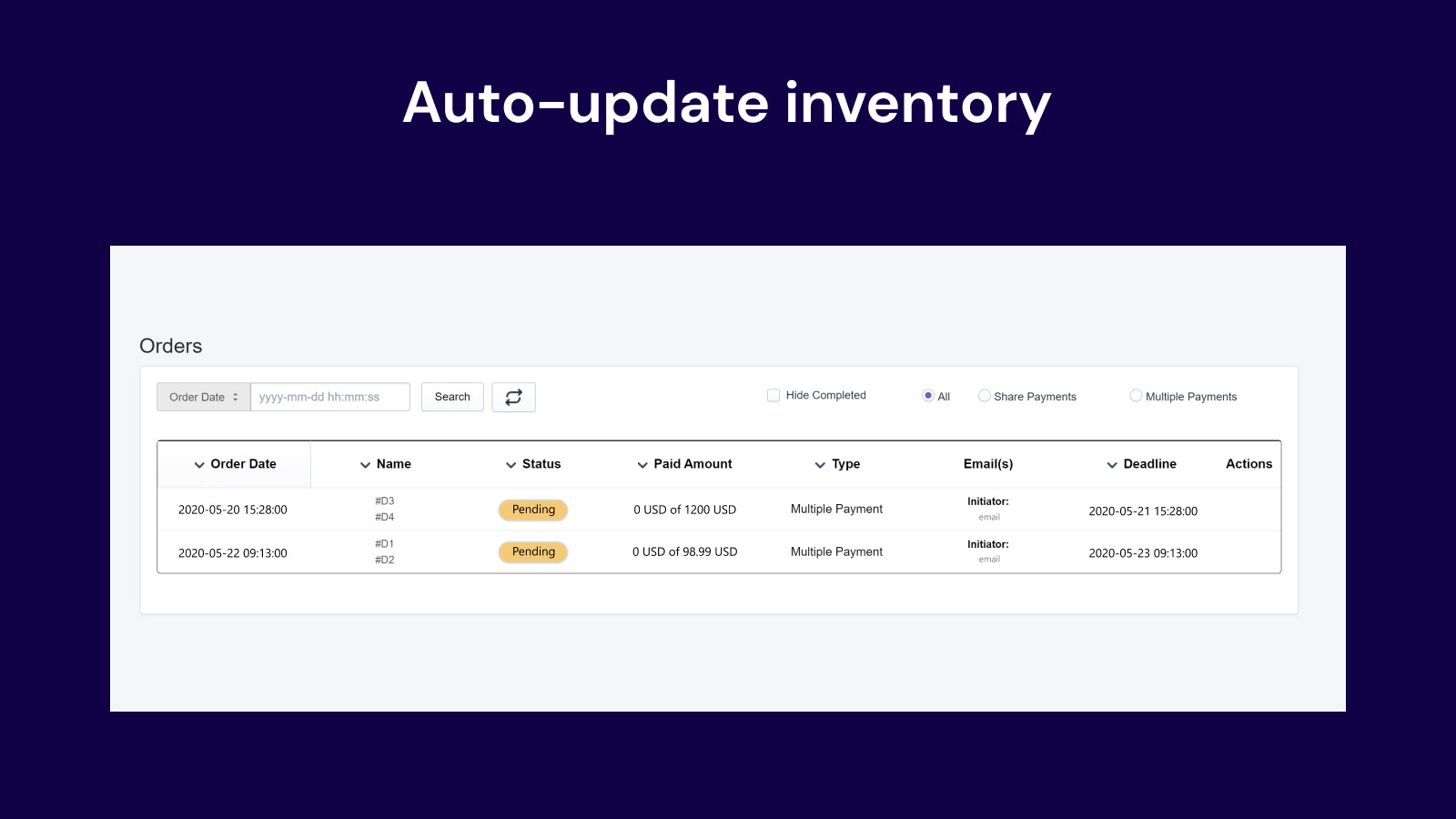 shopify share payments
