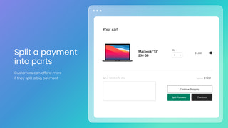 shopify split payments