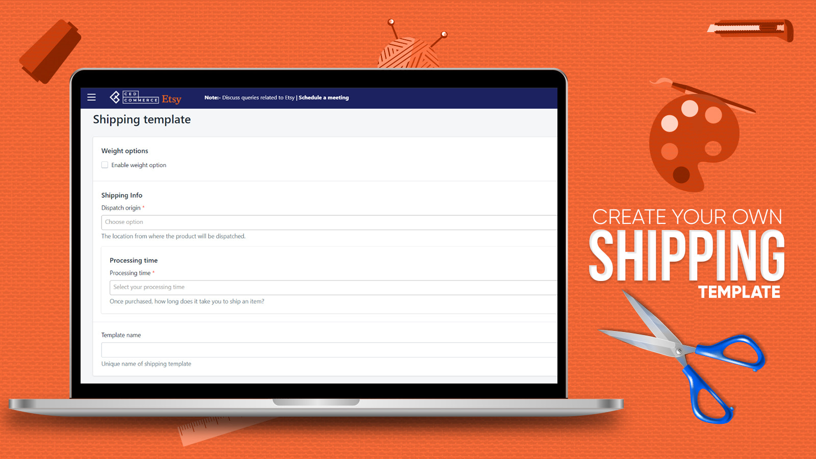 Create your Shipping Template In Etsy Integration