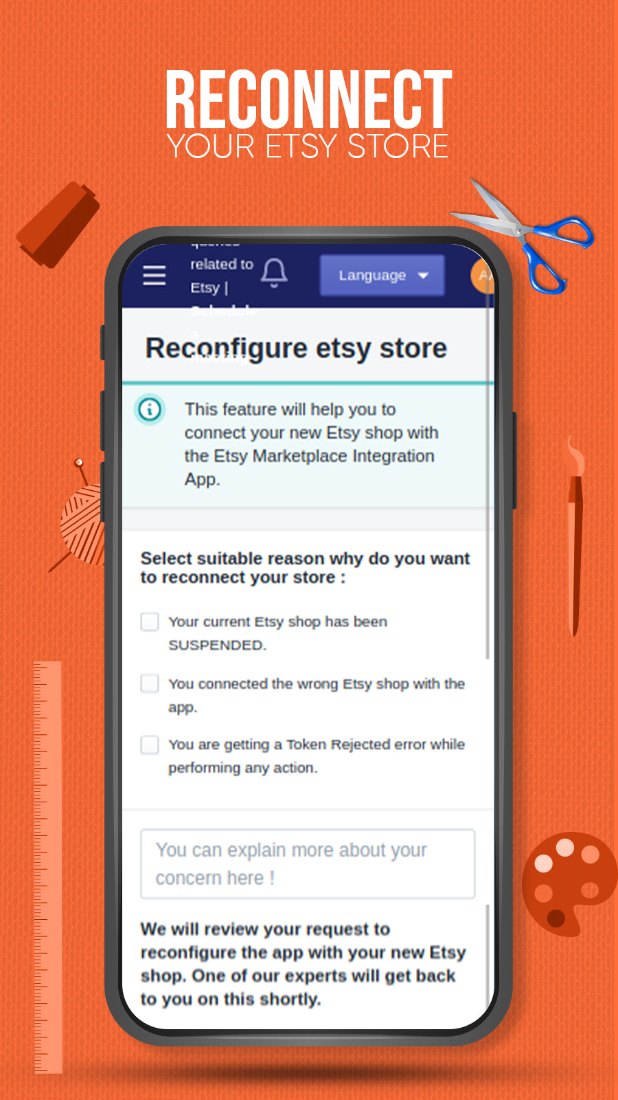 Reconnect your Etsy shop