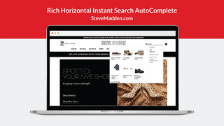 Rich Horizontal Instant Search AutoComplete
