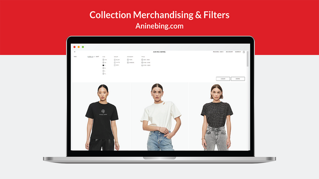 Collection and Search Merchandising & Filter menu