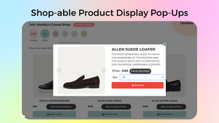Group Shop Product Display Page