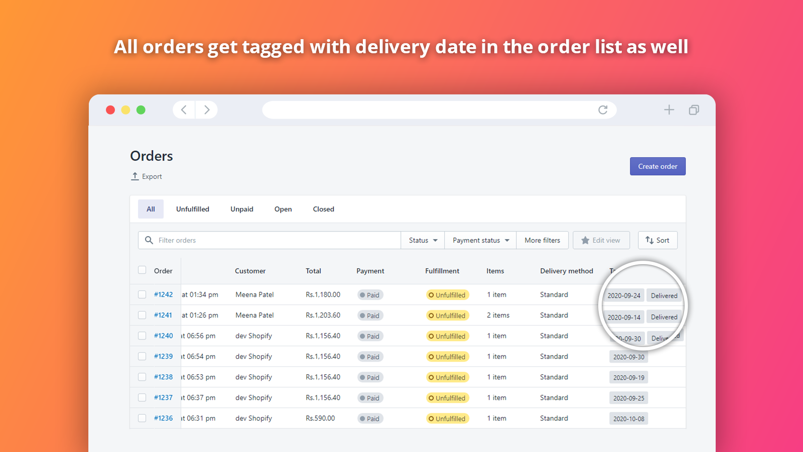 Shopify Show Estimated Delivery Date Backend Order Panel