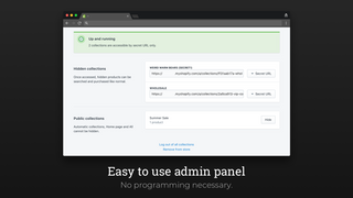 Easy to use admin panel