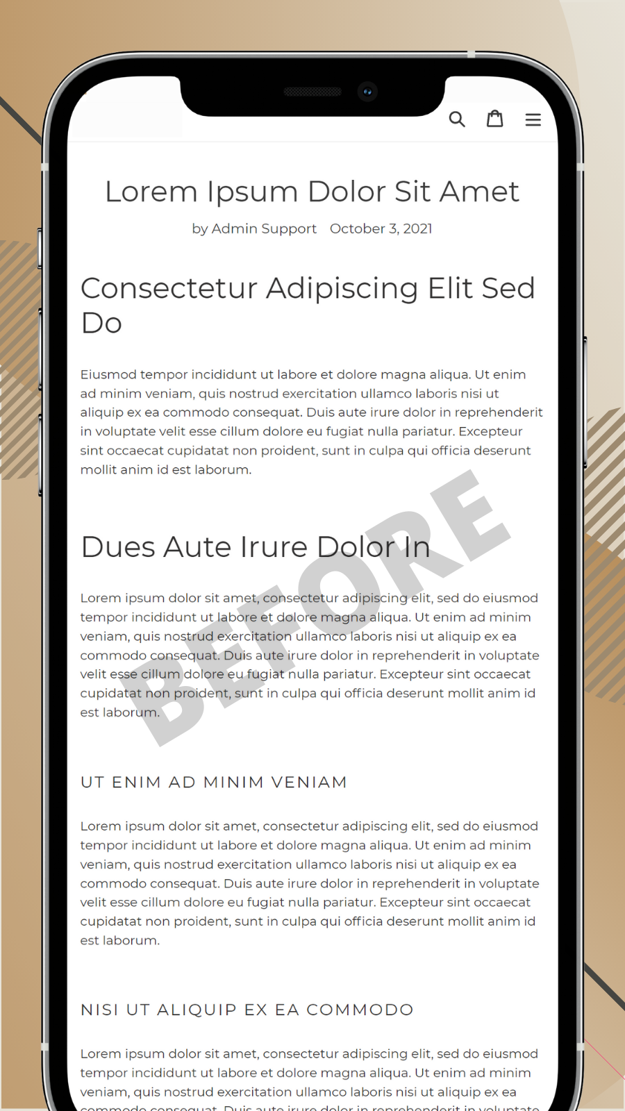 Table of Contents for blog posts on mobile before
