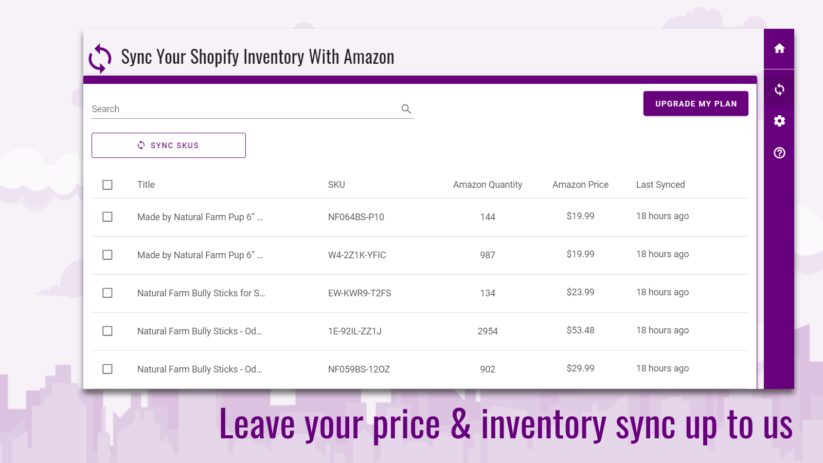 Leave your Amazon price & inventory sync in good hands
