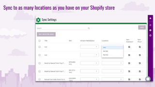 Sync your Amazon FBA inventory to as many locations as you want
