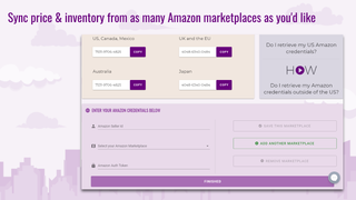 Sync from as many Amazon FBA Marketplaces as you sell