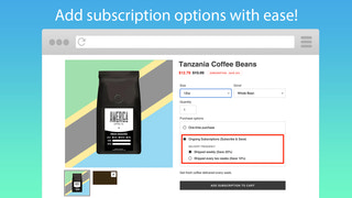 Add subscription options to product pages.