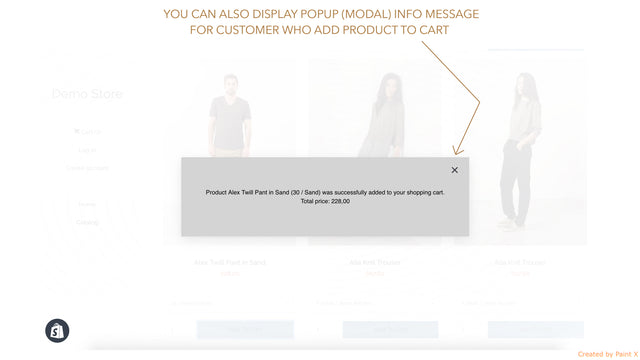 You can show also modal info message about added product to cart