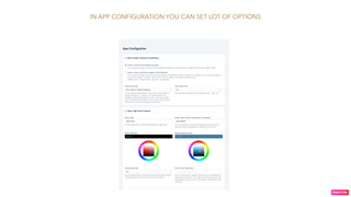 In app configuration you can set lot of options
