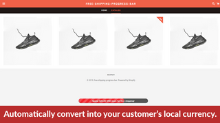 Free Shipping Goal Bar currency conversion